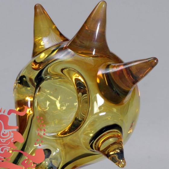 "Pipe simple ""Gold Fumed"" en verre"