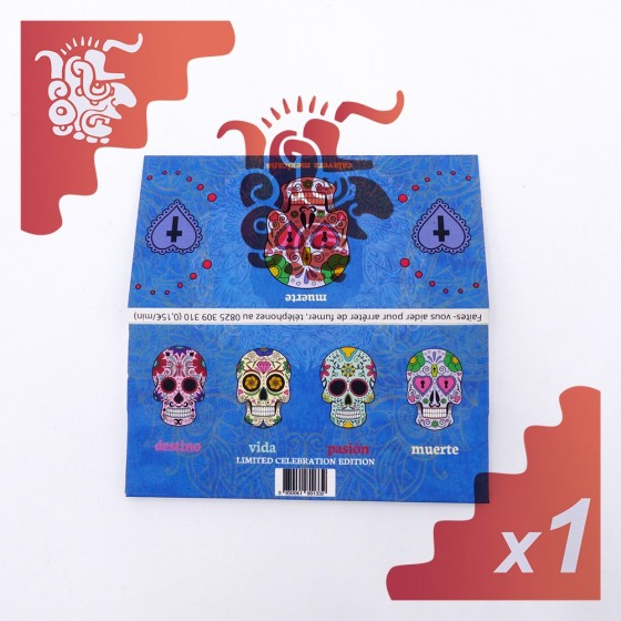 Calavera Mexicana Collection Multicolors KingSize Slim + Tips