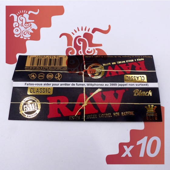 Raw KingSize Slim Black X10