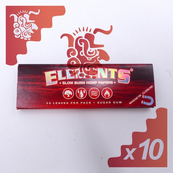 Elements Hemp Papers Slow Burn King Size Slim X10