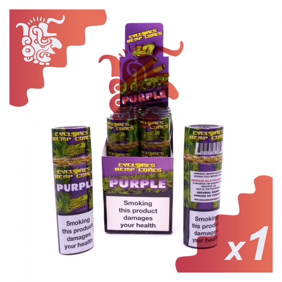 2 cônes Cyclones Hemp Cones Purple